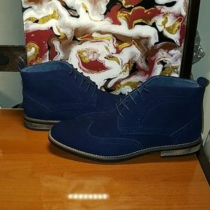 """Mens """"Ricardo"""" Suede Leather Lace Up Chukka Boots"""